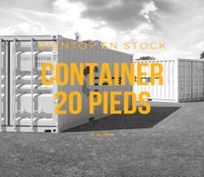 Container 20 pieds maritime premier voyage (conteneur 1er voyage neuf) Cubner