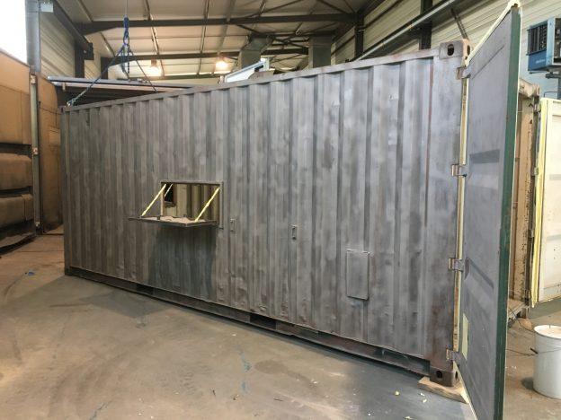 container-grenaillage